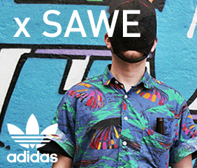 Wall Attack:  adidas Originals x Sawe